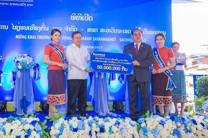 Sacombank góp phần phát triển kinh tế bền vững tại Lào- Savanakhet
