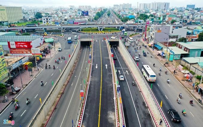 công trình nút giao thông ba tầng An Sương